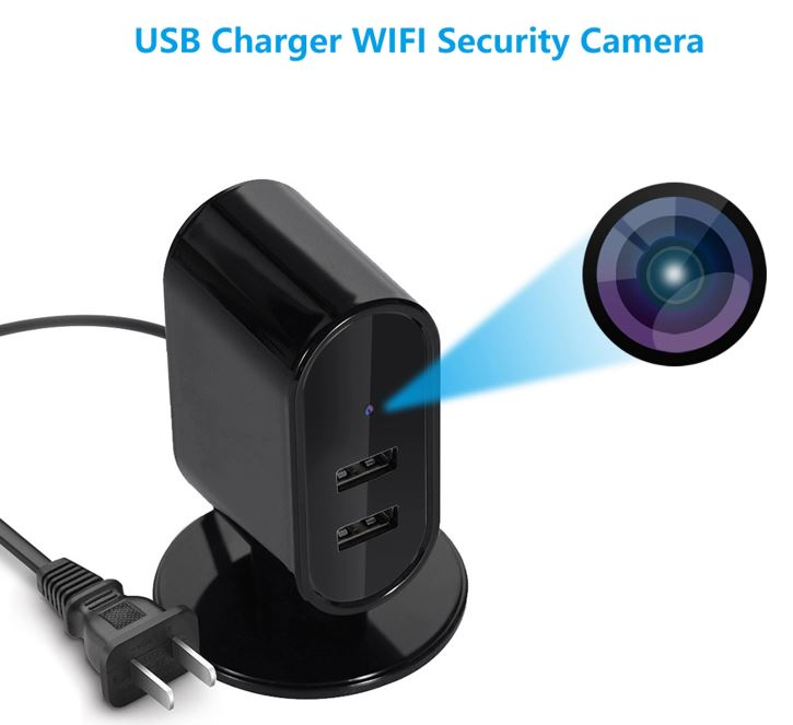 SPY326 - מטען USB WIFI SPY מצלמת חור