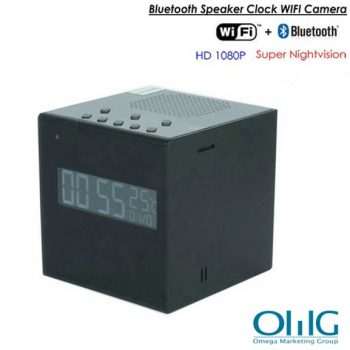 Bluetooth Speaker Clock WIFI Camera, Super Nightvision