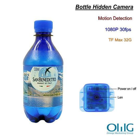 Bottle Hidden Camera, Motion Detection