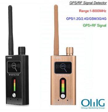 GPS SPY kameras RF divkāršo signālu detektors, diapazons 1-8000MHz, attālums 5-8m