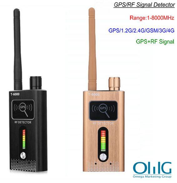 GPS SPY տեսախցիկ RF երկակի ազդանշանային դետեկտոր, միջակայք 1-8000MHz, հեռավորություն 5-8m