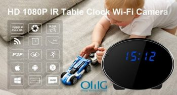 HD 1080P IR Camera Clock Wi-Fi Camera
