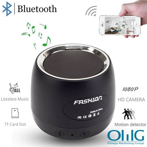 HD 1080P Wifi Nakatagong Camera Bluetooth Speaker