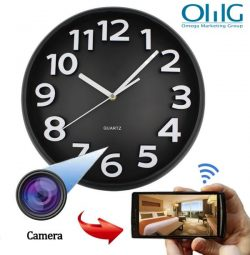 Home Decoration Wifi Wall Hidden Spy Camera Clock