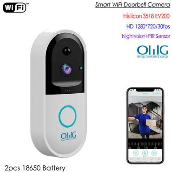 SPY303 - WIFI Smart Doorbell Kamera, Hisilicon 3518E Chipset, PIR Sensor, Nightvision, De-fason Pale