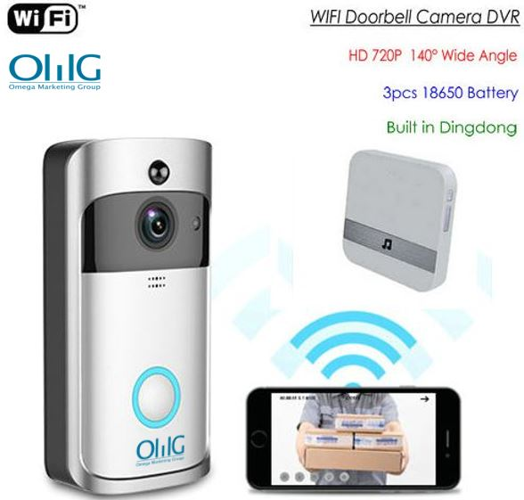 SPY328 - WIFI Video Doorbell, Widescreen lens - 140degree Camera with Nightvision