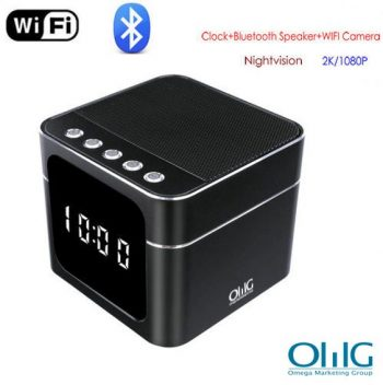 WIFI Clock Bluetooth Oratè ak Nightvision
