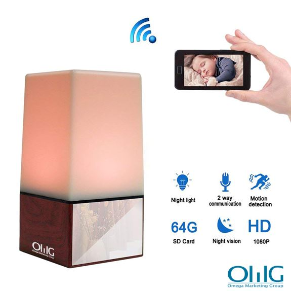 WIFI Color Light Camera DVR, HD1080P, H.264, 3500mAh battery, Two way Talk