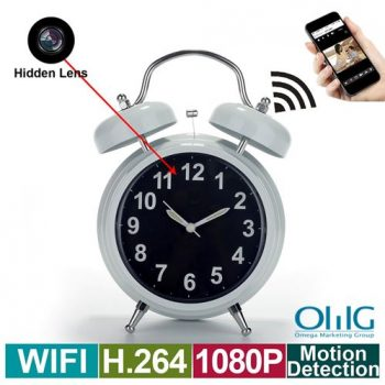 WIFI Nakatagong Spy Camera Alarm Clock, Home Recorder ng Video ng Security ng Loob ng Home