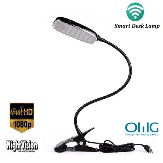WIFi HD Hidden Camera Desk,  Table Lamp, Night Vision Video