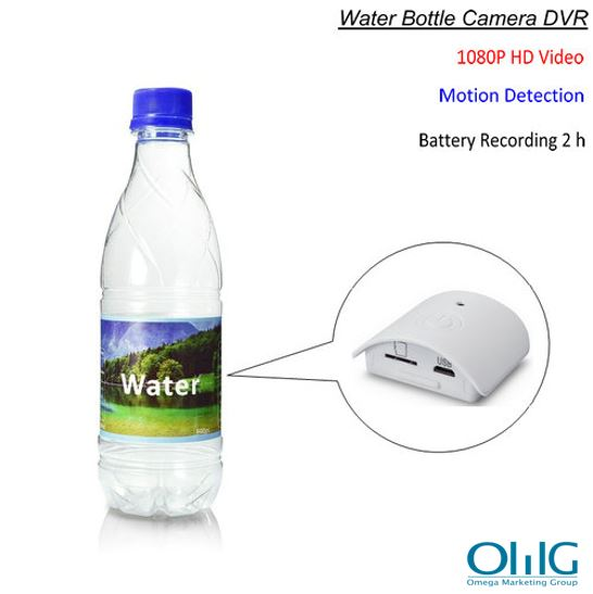 Water Bottle Camera, HD 1080P, Motion Detection, Battery Recording Time 2 hours