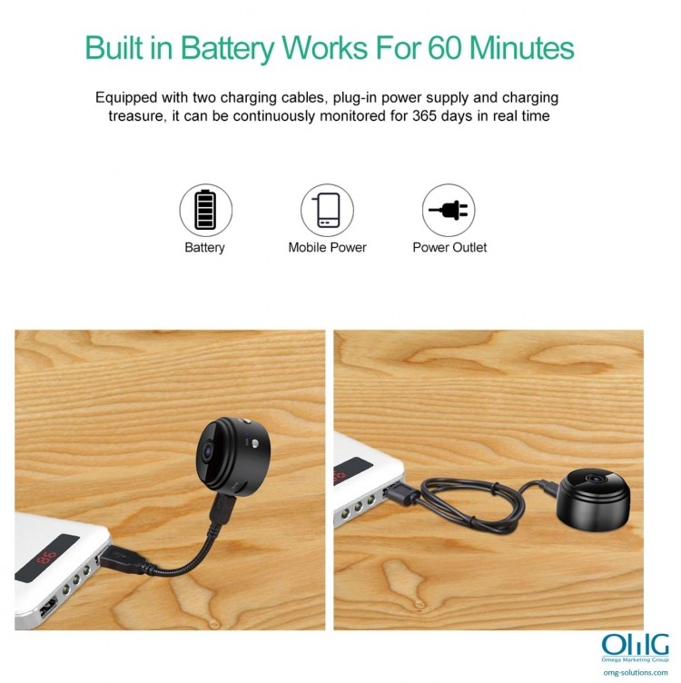SPY337 - Mini Wireless Cam - Charging Features