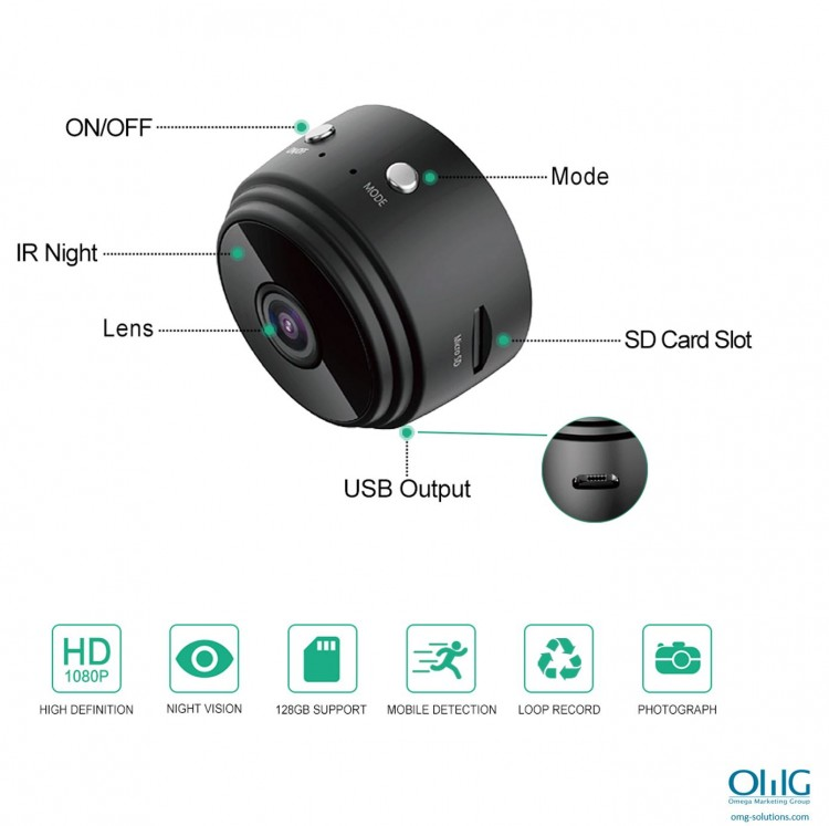 SPY337 - Mini Wireless Cam - Features