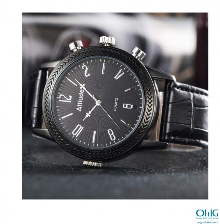 एसपीवाय 338 - स्पाय फॅशनेबल पुरुषांचे घड्याळ - छान पार्श्वभूमीसह पहा