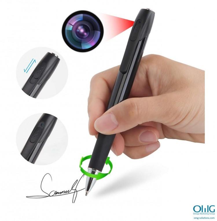 SPY339 - قلم جاسوسی OMG - قلم در حال استفاده