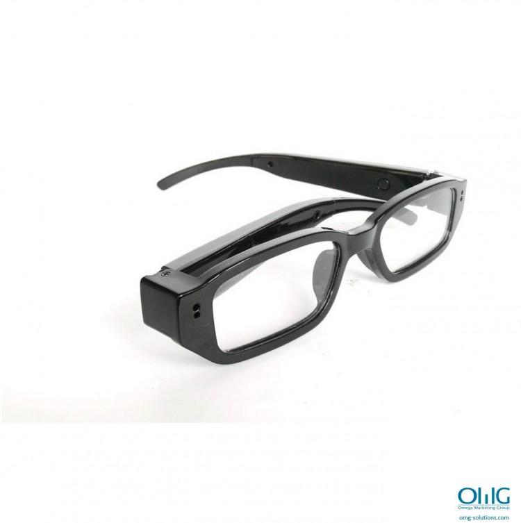 SPY341 - מרגלים משקפיים חצי מסגרת - מבט לצד עם קפל ימני