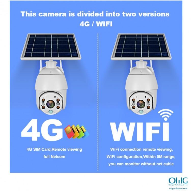 SPY351 - OMG شمسی ، $ g پاور وائی فائی کیمرا - 4G یا وائی فائی