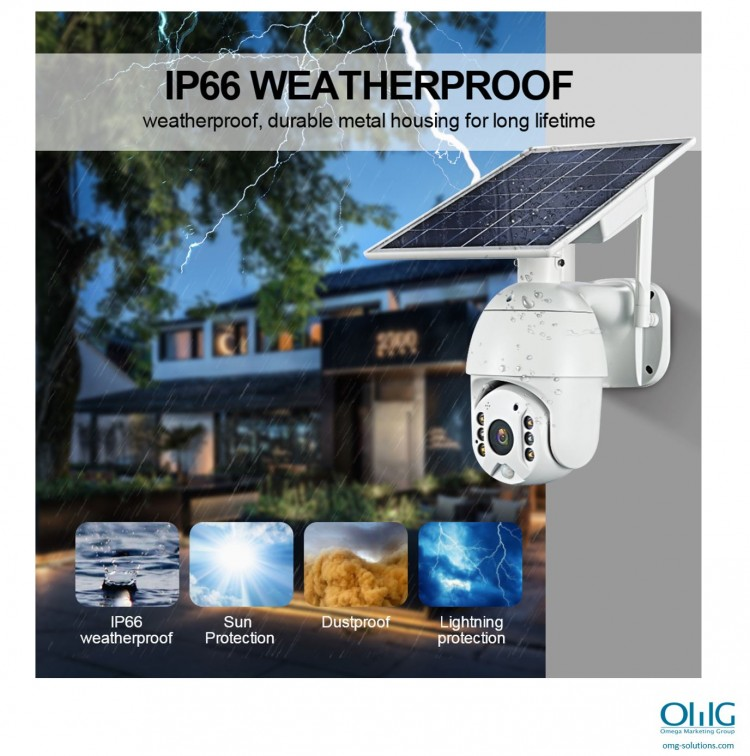 SPY351 - OMG شمسی ، $ g پاور وائی فائی کیمرا - IP66 ویدر پروف