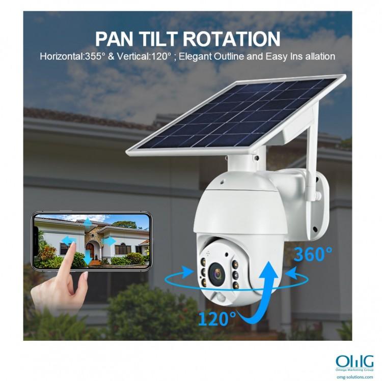 SPY351 - OMG شمسی ، $ g پاور وائی فائی کیمرا - پین جھکاو گردش