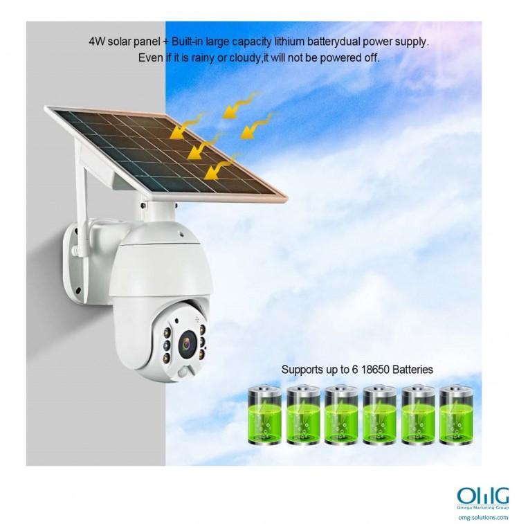SPY351 - OMG شمسی توانائی سے ، $ g پاور وائی فائی کیمرا - شمسی توانائی سے چلنے والا