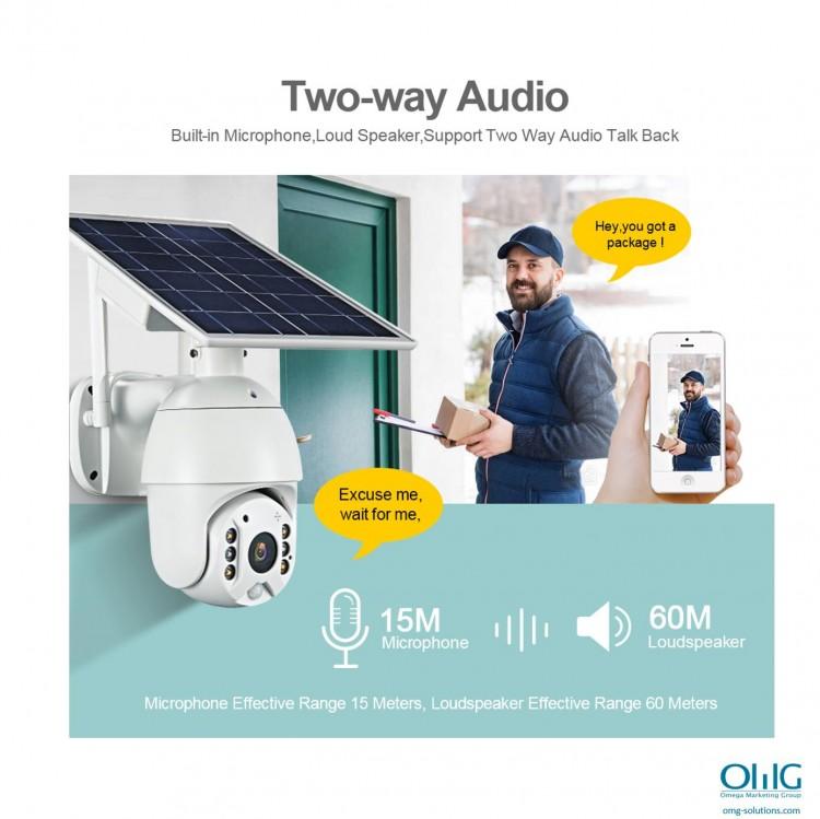 I-SPY351 - I-OMG Solar, $ g Amandla e-Wifi Camera-Umsindo weendlela ezimbini