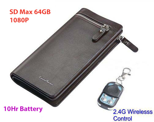 Camera Handbag, SD Card Max 32GB, 10hours, Wireless Remote Control
