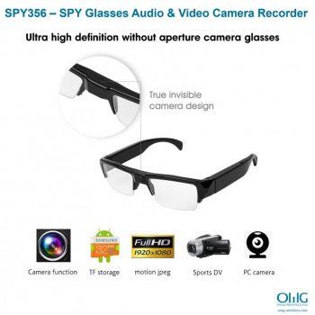 SPY356 - Perekam Kamera Audio & Video Kacamata SPY