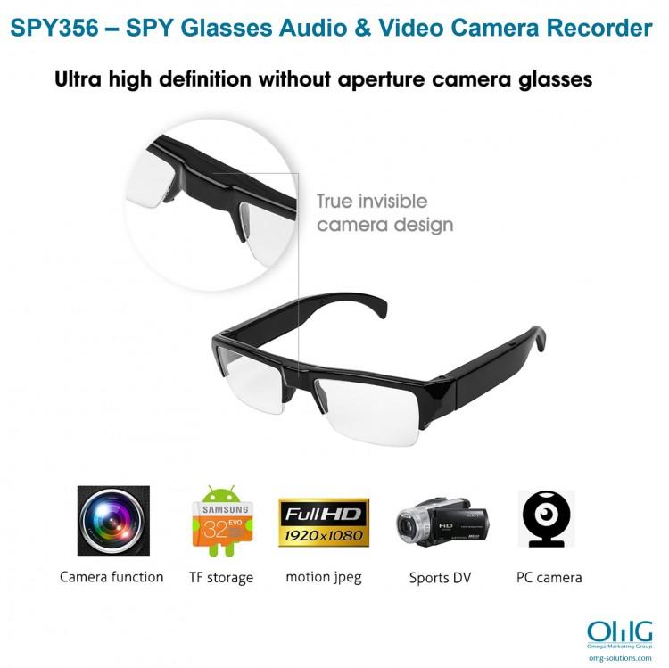 SPY356 - SPY brilles audio un video kameru ierakstītājs