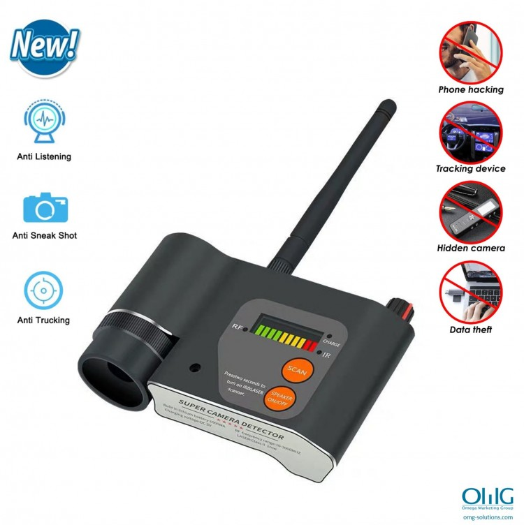 SPY989 - OMG Spy Hidden Camera Bug Detector For Office, Home, & Vehicle - Features