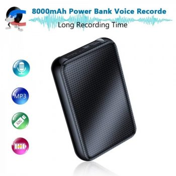 SPYV032 - OMG Powerbank Voice Activated Audio Recorder, 1100 Mga Oras, 32GB
