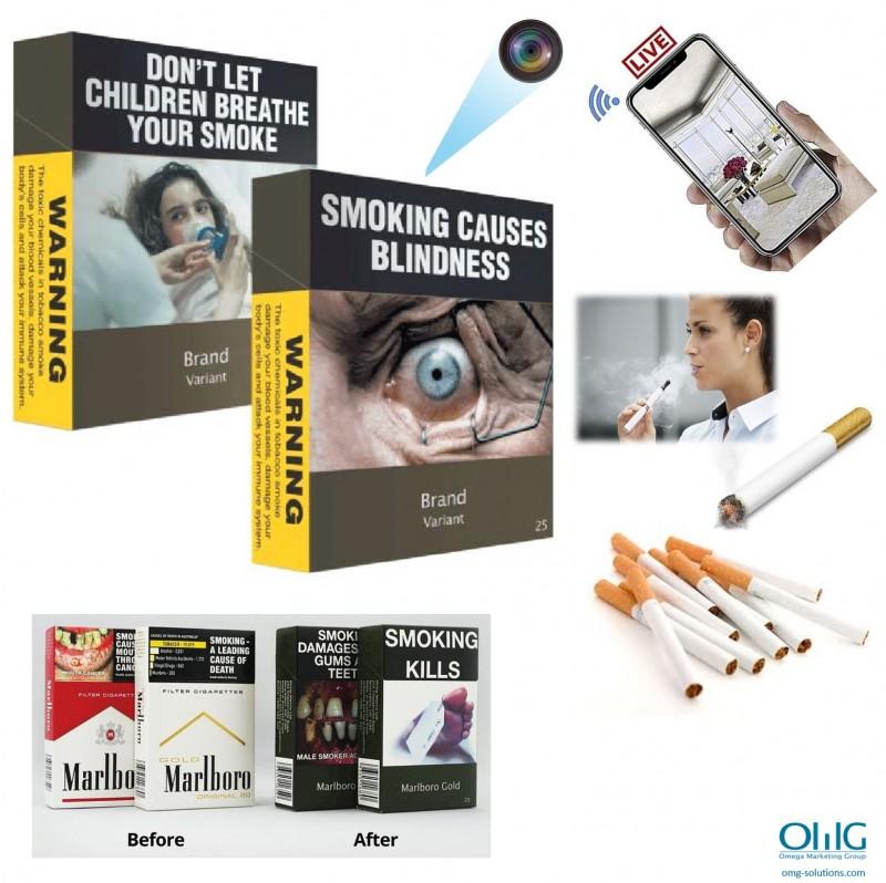 SPY362 - WIFI slēptā spiegu cigarešu kastes kamera