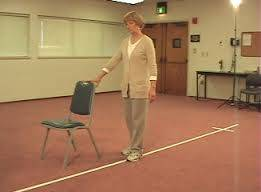 Fall prevention exercises for seniors - Heel - to - toe walking