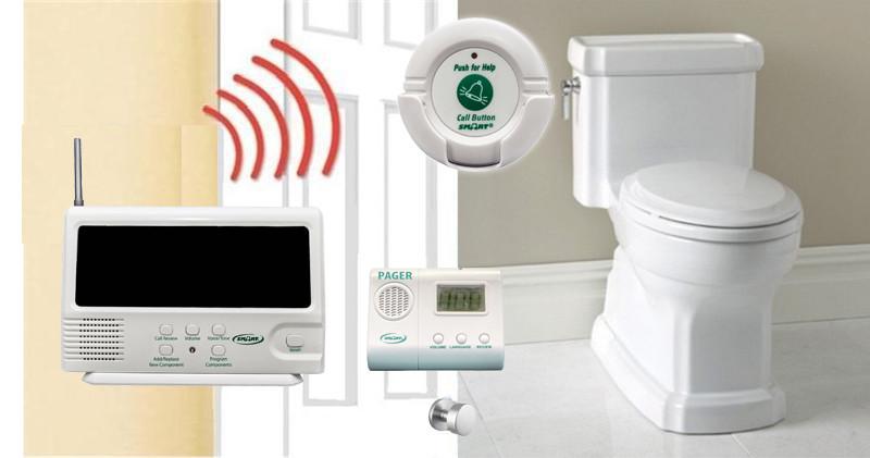 Elderly Wireless Toilet Emergency Alarm For Hospitals