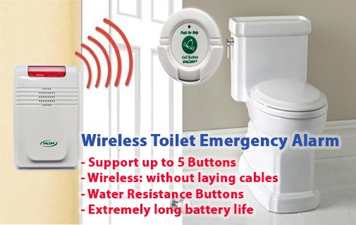 Wireless Toilet Emergency Alarm