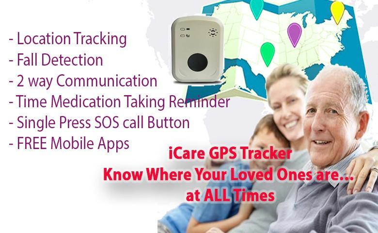 Elderly/Senior GPS Tracker Device for Alzheimer Patients