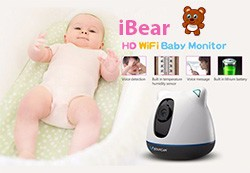iBear - Baby - Elderly Safety Monitor IP Camera CCTV 250x