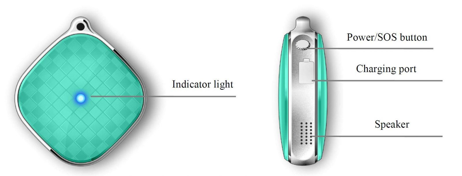 Pendant GPS Tracker for Elderly - Product View