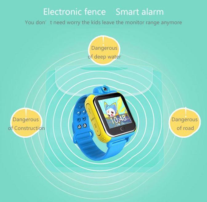 3G Kids GPS Tracker Watch - Electronic Fence - Smart Alarm