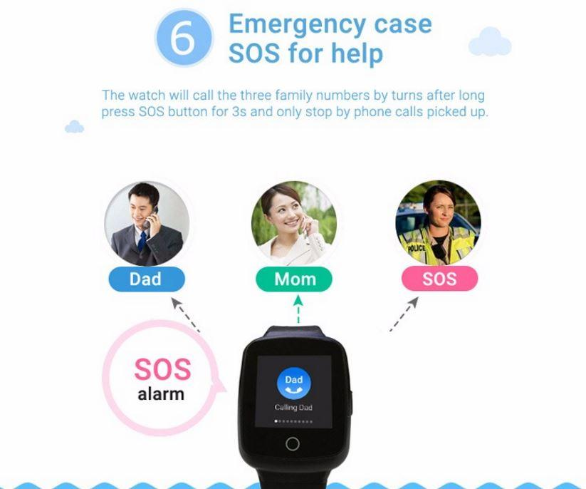 3G Kids GPS Tracker Watch - Āwhina Āwhina SOS