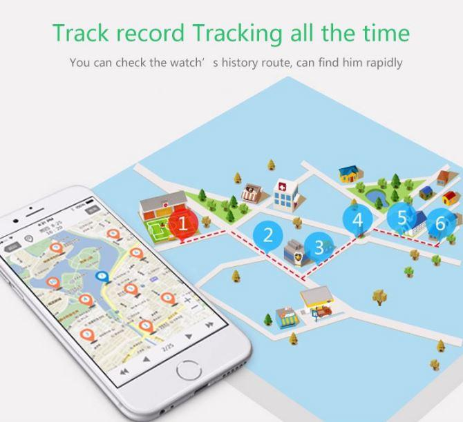 3G Kids Tracker Watch de GPS - History Route