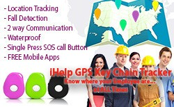 3G-keychian-GPS-Employee Safety Alert Device