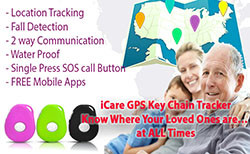 3G Key Chain GPS Tracker with Fall Detector for Elderly (Dementia)