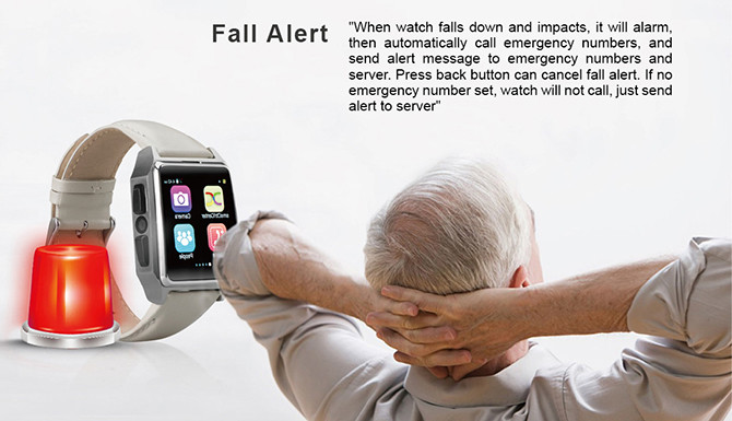 GPS Tracker Phone Watch for Elderly - Fall Alert