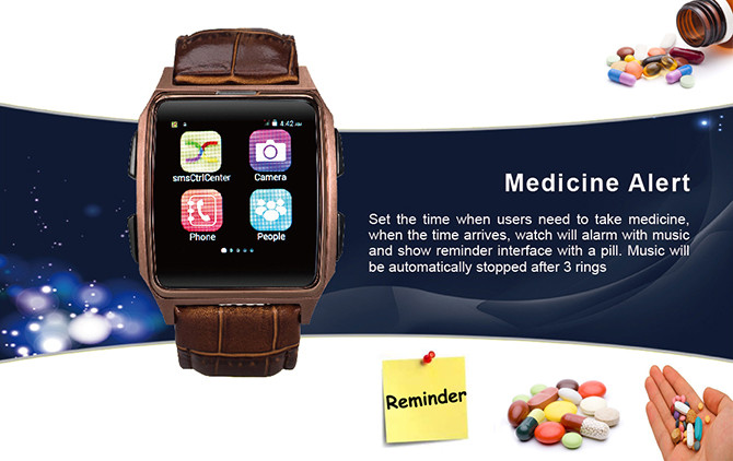 GPS Tracker Phone Watch for Elderly - Medicine Alert 670x