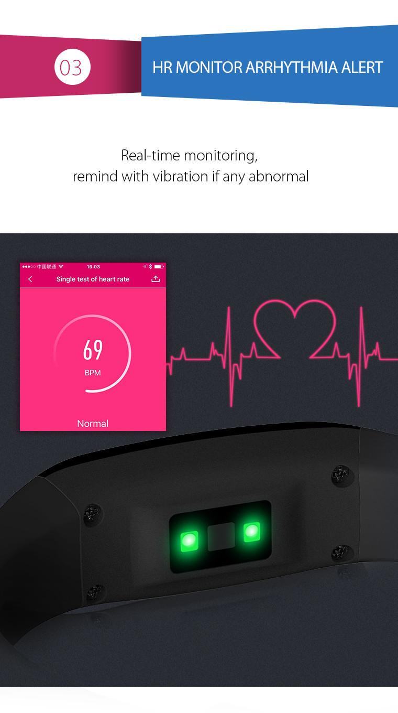 Health Bracelet - 03 Heart Rate Monitor Arrhythmia Alert
