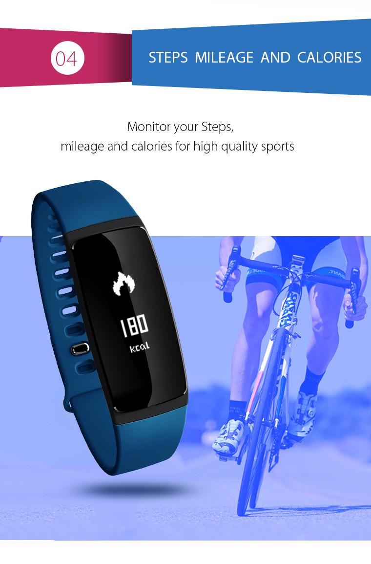 Health Bracelet - 04 Steps Mileage And Calories