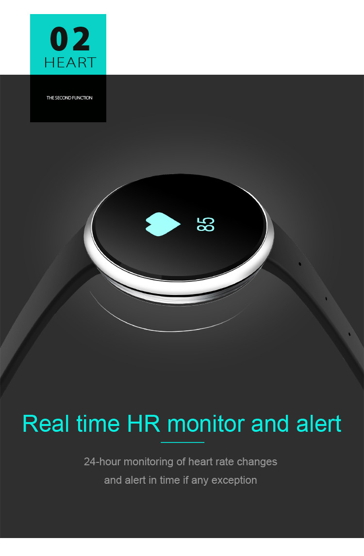 Health Wrist Watch [OMGHM02W] - Real-Time HR Monitor and Alert