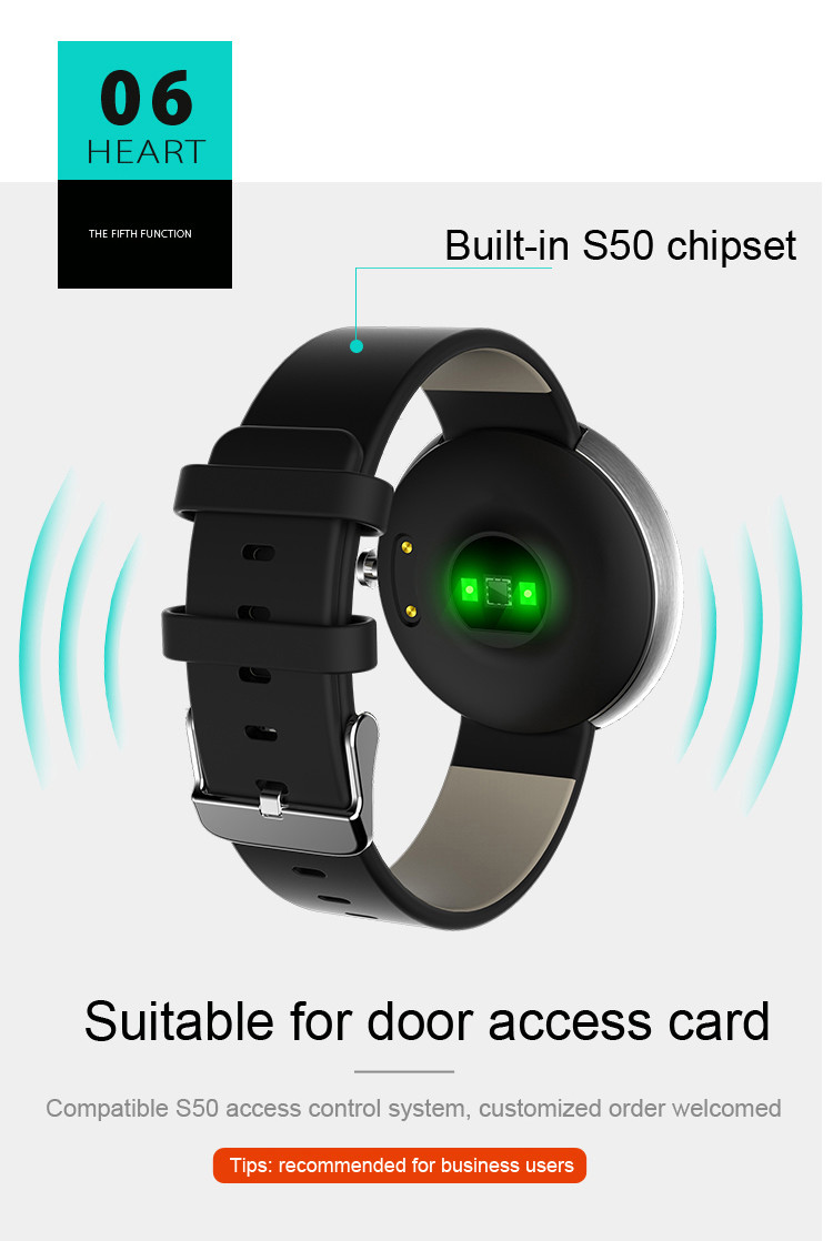 Health Wrist Watch [OMGHW02] - Suitable for Door Access Card