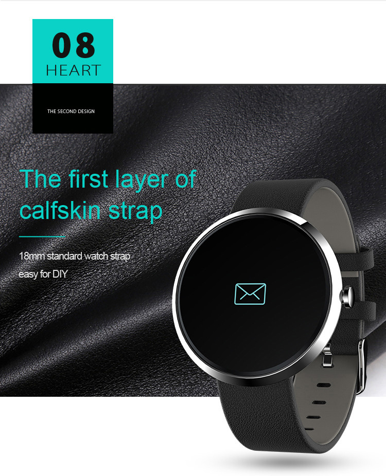 Health Wrist Watch [OMGHW02] - The First Layer of Calfskin Strap
