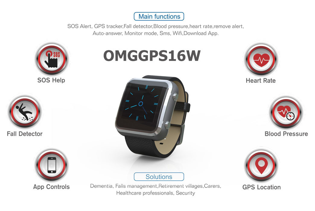 3g 4g Gps Tracker Watch With Fall Detection Blood